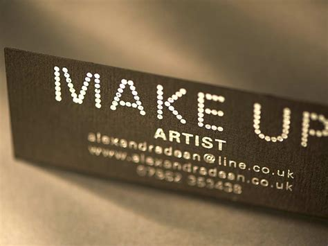 make up artist business cards stationery cupiss letterpress