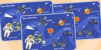 Space Word Mat by Space Word Mat Space Vocabulary Mat Word Mat Key