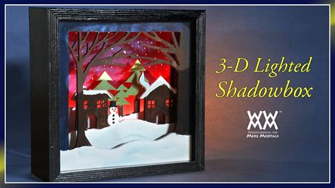 lighted   scroll  shadowbox wwmm art design youtube