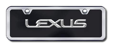 Lexus Vanity Plate by Lexus Name Black Half Size License Plate Vanity Tag
