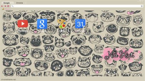 pug theme for google chrome tema de google chrome i love the pug nk by niakiut on
