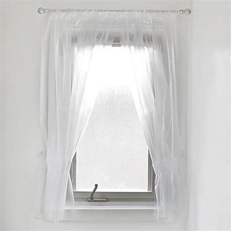 vinyl window curtain vinyl bathroom window curtain in frost bed bath beyond