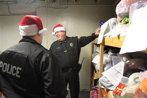 christmas present for cops fairfield donate gifts to local families centralmaine