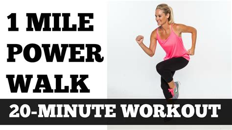 To 1 Mile by 1 Mile Power Walk Length Walking Workout Low