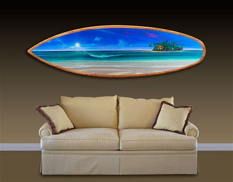 wall design ideas large tremendous surfboard