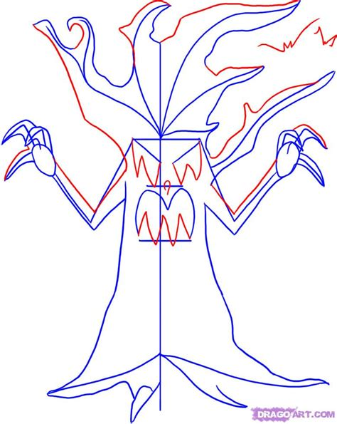 how to draw a tree dragoart draw a spooky tree step by step drawing sheets added by