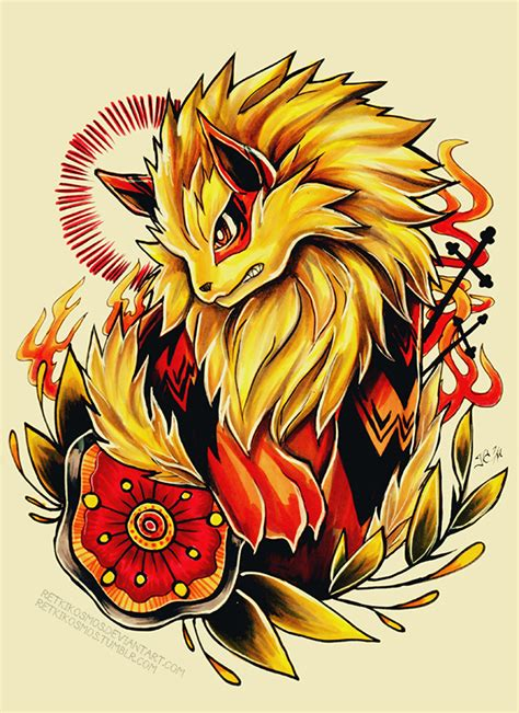 arcanine tattoo arcanine by retkikosmos on deviantart