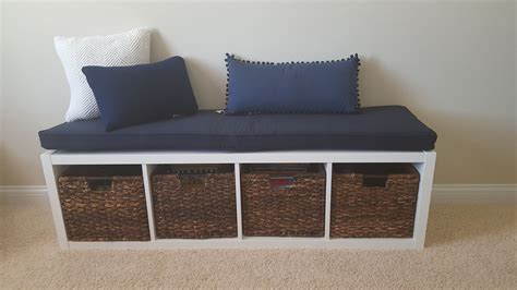 Ikea Kallax Bench | handmade ikea kallax cushion bench cushion by hearth and