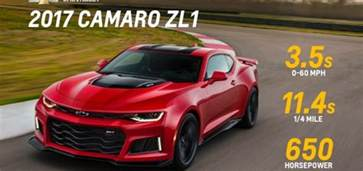 2017 chevy camaro zl1 performance specs gm authority