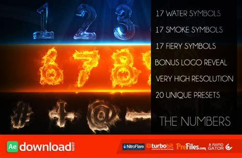 templates after effects videohive free the numbers videohive template free download free