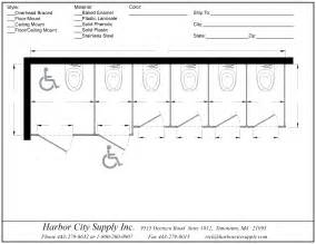 Washroom Dimensions Guide Commercial Restroom Partitions Harborcitysupply