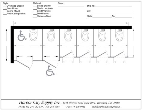 Bathroom Partitions Dimensions by Restroom Partitions Harborcitysupply