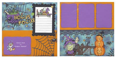 scrapbook layout gallery halloween scrapbook layout by cafe at splitcoaststers