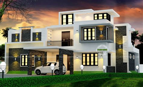 modern box house spectacular modern box type house with estimated