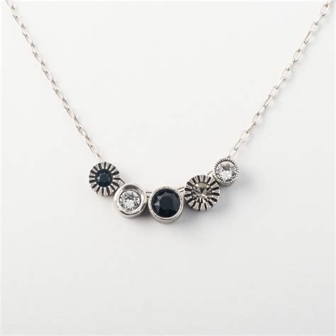 pennies from heaven necklace black white locke