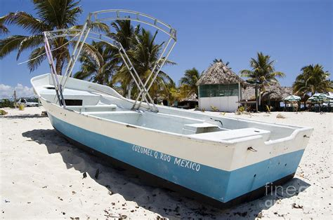 mexican fishing boat cozumel mexico fishing boat photograph by shawn o brien