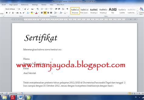 fungsi membuat mail merge tutorial membuat mail merge di ms word 2010 iman jayoda