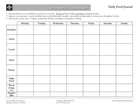 Daily Food Journal Template by Best Photos Of Seven Day Food Diary 7 Day Food Diary