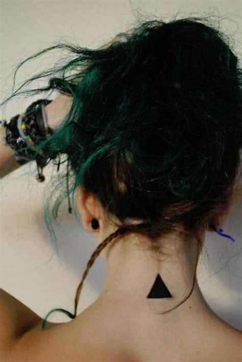 tattoo neck geometric fire triangle geometric tattoos and tat on pinterest