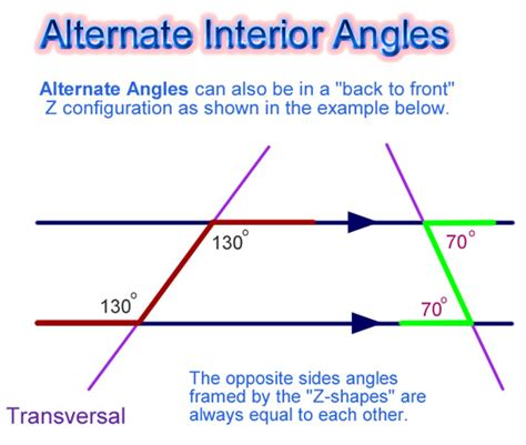 Co Interior Angles Are Equal by Angles And Parallel Lines Passy S World Of Mathematics