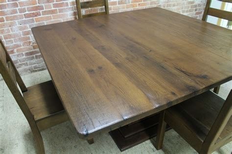 60 Inch Square Dining Table 60 Inch Square Oak Table Rustic Dining Tables Boston By Ecustomfinishes