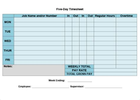 Automated Timesheet Excel Template by 50 Printable Timesheet Templates Free Word Excel