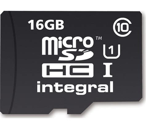 Microsd 16gb Class 10 Visipro integral ultimapro class 10 microsd memory card 16 gb deals pc world