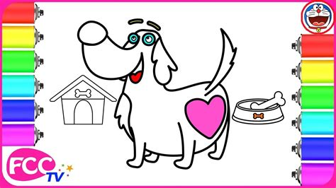 learn how to dogs learn how to draw house coloring pages for