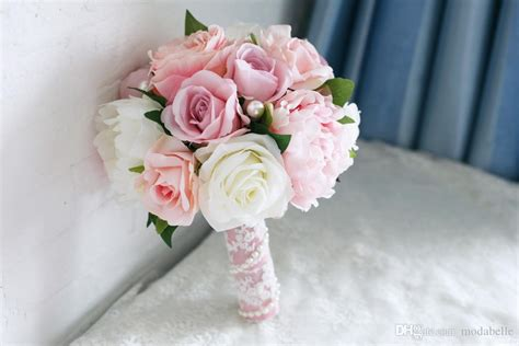 Wedding Bouquet Light Pink by Light Pink Artificial Vintage Wedding Bouquets Brooch