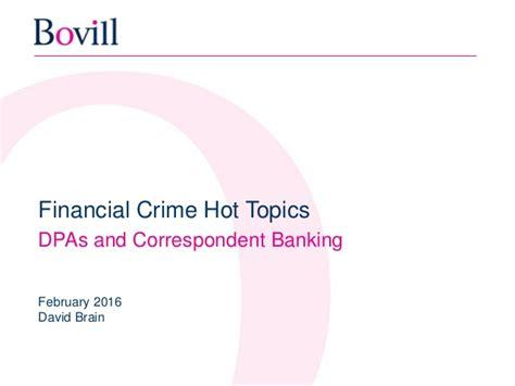 correspondent bank details financial crime topics dpa s and correspondent banking