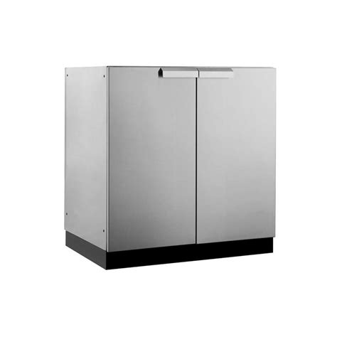 Stainless Steel Outdoor Cabinet Doors Shop Newage Products Outdoor Kitchen Classic Stainless Steel 32 Inw X 23 Ind 2 Door Cabinet At