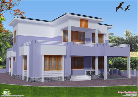 home design for roof 2419 sq feet flat roof house design kerala home design