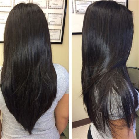 corte en v con capas cortes de cabello largo capas imagenes de cortes de cabello