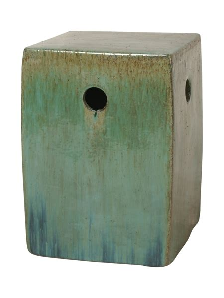 Square Garden Stool by Lime Green Square Ceramic Garden Stool