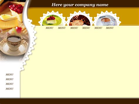 food templates free food web templates