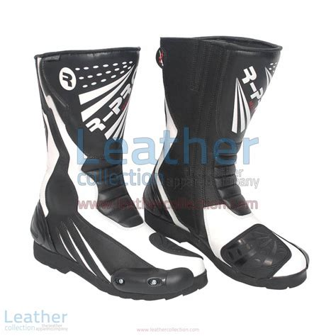 leather moto boots buy legend leather moto boots in black white only 199 00