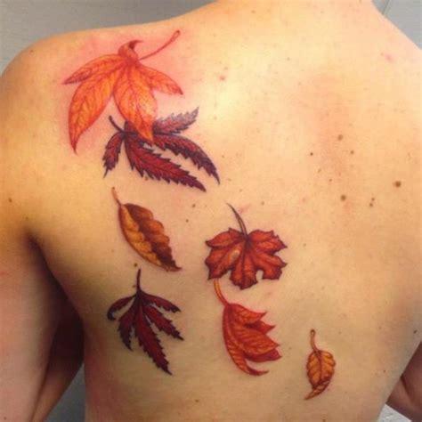 autumn leaves tattoo falling autumn leaves tattoos