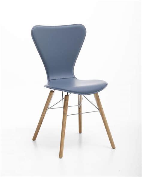 sedie acciaio e pelle sedia in cuoio acciaio e legno per uso domestico idfdesign