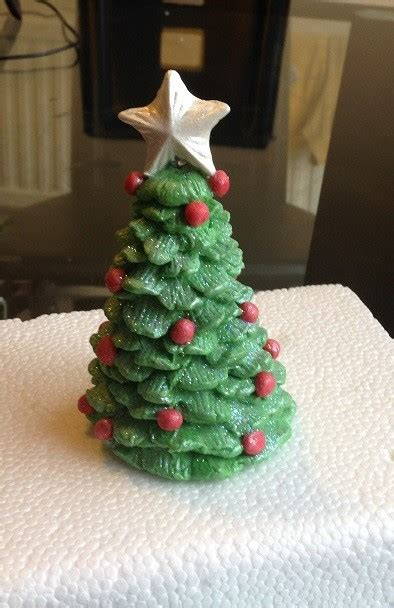 large beautiful edible sugar christmas tree with pearl