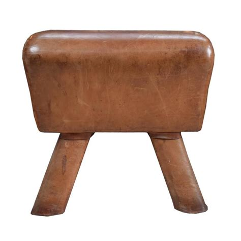 wooden horse bench wood and leather pommel horse bench at 1stdibs