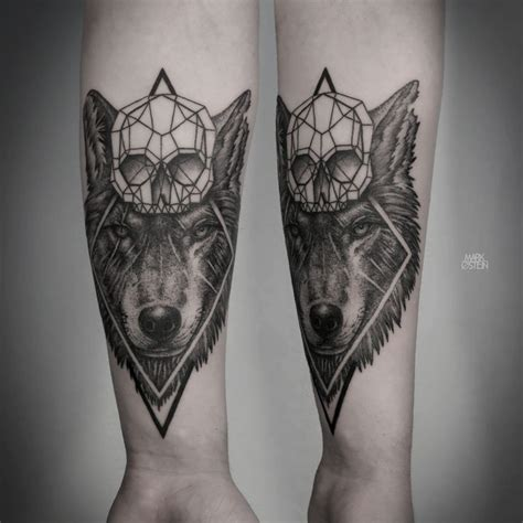 geometric tattoos by mark ostein tattoos pinterest