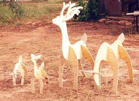pattern for white wooden reindeer wooden lawn reindeer patterns woodworking projects plans