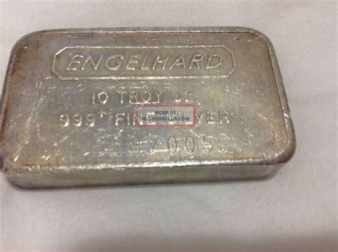 1 Troy Oz Engelhard Silver Bars - ten troy oz engelhard 999 silver bar 10 oz bullion