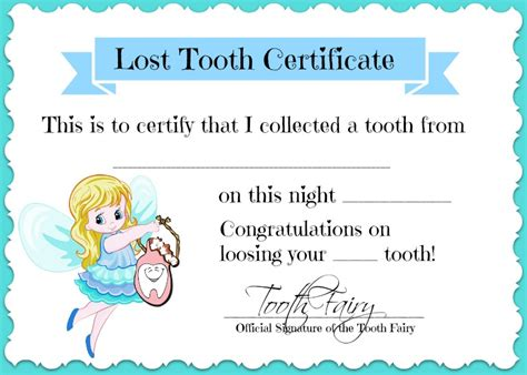 tooth certificate template tooth quotes quotesgram