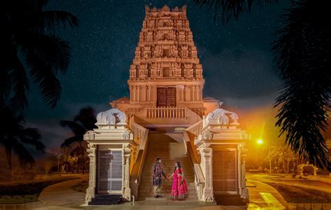 The Hindu Temple of Florida at Night   Tampa, FL   Miami