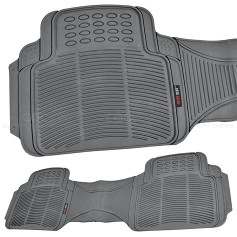 Heavy Duty Truck Mats 1pc gray rubber floor mat rear car suv heavy duty all weather liner bpa free ebay