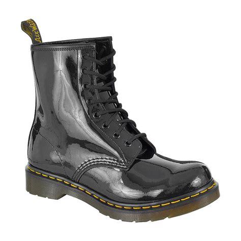 dr martens black 1460 patent boots dr martens footwear uk
