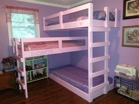 Three Bunk Bed Design Bunk Bed Plans Build The Best Bedroom Inspiration