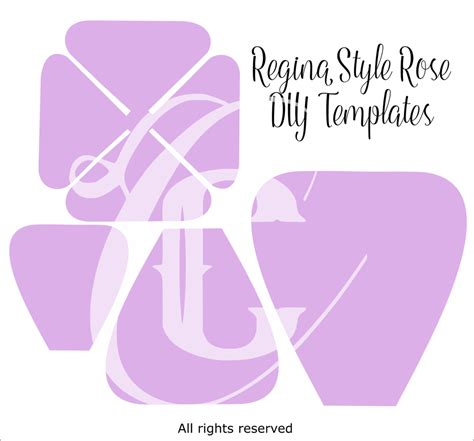 giant paper rose templates regina style paper flowers