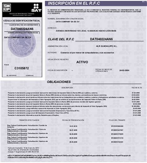 consulta tu rfc registro federal de contribuyentes y rfc